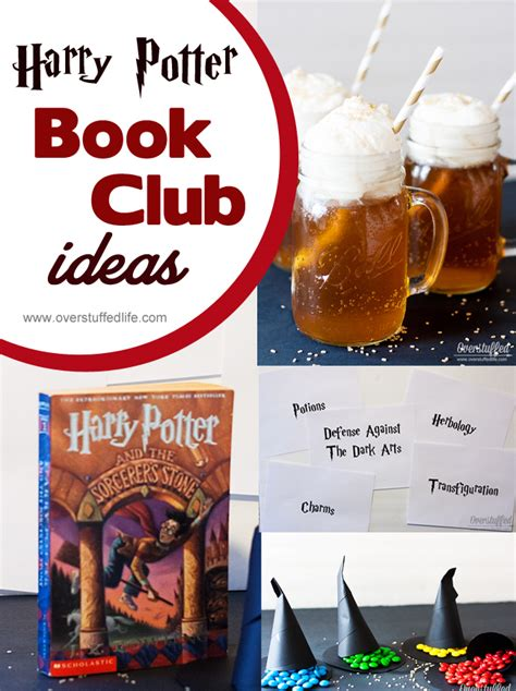 reading club themes harry potter book club ideas overstuffed