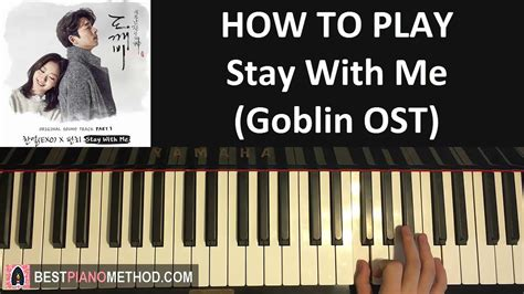 tutorial keyboard stay with me how to play goblin 도깨비 ost stay with me chanyeol 찬열