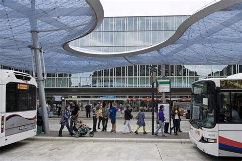 couch station aarau bus station canopy switzerland e architect