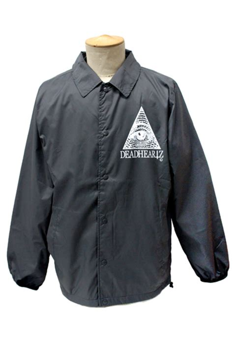 illuminati jacket deadheartz illuminati coach jacket black 渋谷のロックファッション 通販