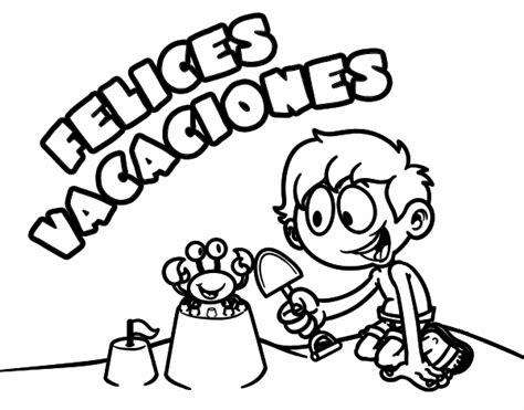 imagenes de vacaciones animadas para colorear dibujo de felices vacaciones pintado por en dibujos net el