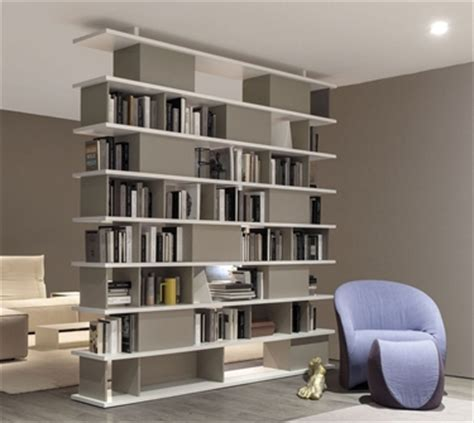 librerie divisorie soggiorno libreria bifacciale soluzione moderna librerie