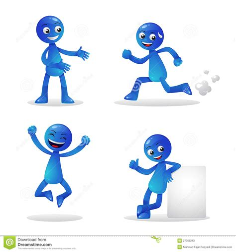 activity for blue person activity 1 stock photos image 27769213