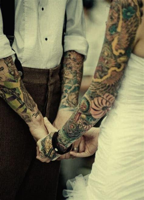 imagenes de unicornios tatuados 36 fotos de casais tatuados se casando casamento manga