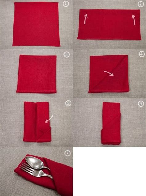 Folding Paper Napkins To Hold Silverware - 25 tutorials for how to fold napkins food