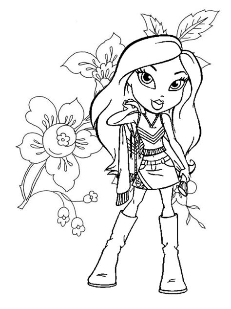coloring pages of girl stuff bratz coloring pages