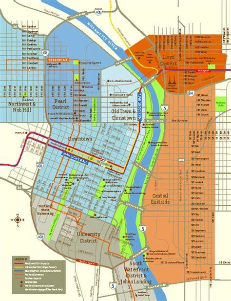 map of oregon pdf central portland oregon map portland or mappery