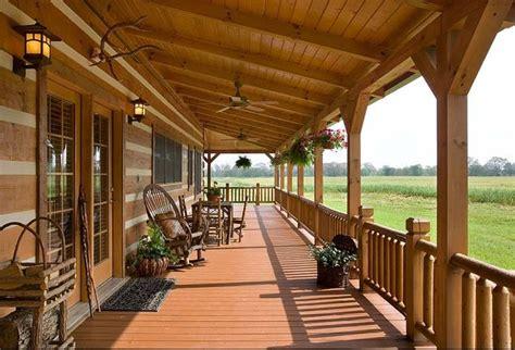 log cabin porch front porch decorating ideas