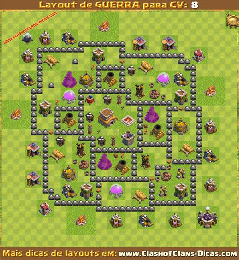 layout vila cv 8 layouts para cv8 em guerra clash of clans dicas