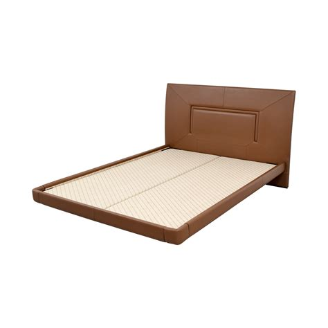 leather bed frame queen 62 off aurora uno aurora uno brown leather queen bed