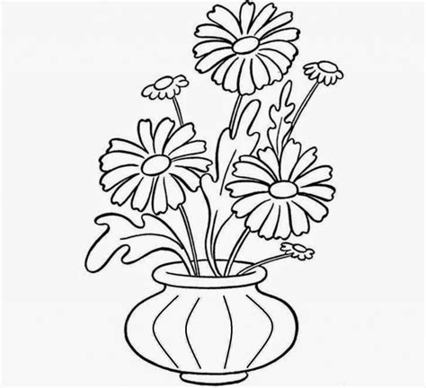 images to draw beautiful flower drawing images coloured with pot how to