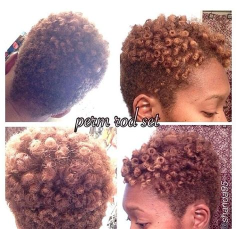 short perm rod styles on thin hair perm rod set natural short tapered hair pinterest