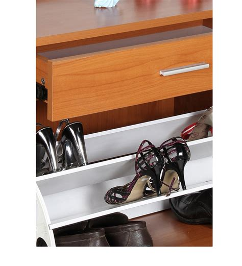 Shoe Rack With Drawer by Convertible Shoe Rack With Drawer Small Cherry By
