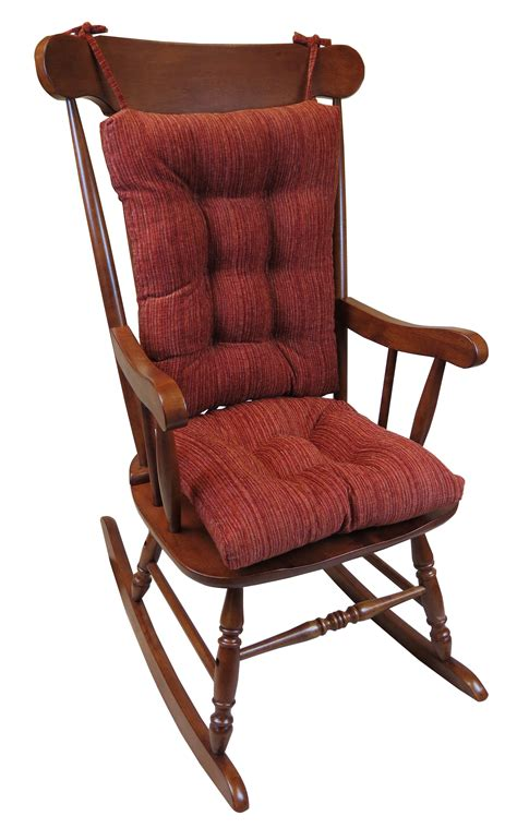 gripper large universal rocking chair cushion crushed chenille