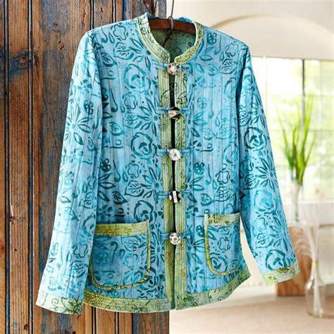 sewing pattern quilted jacket reversible indonesian batik jacket strik
