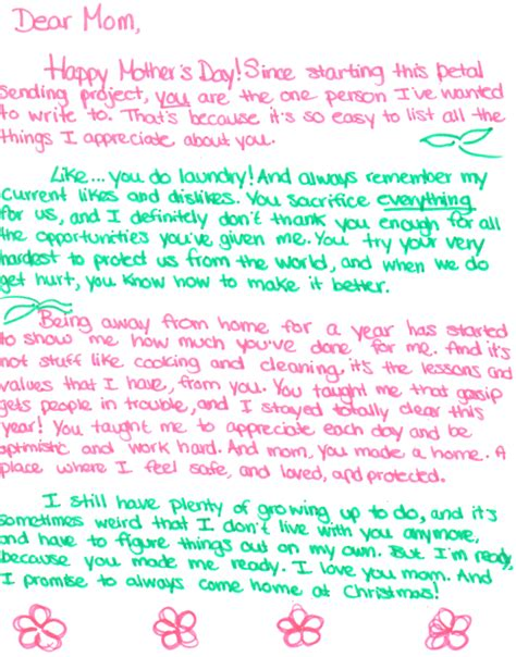 Letter For S Day Mothers Day Letters Levelings