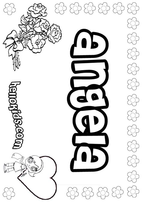 coloring page angela angela coloring pages hellokids com