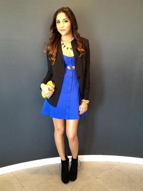 blue dress black blazer style in style dress black black blazers and blue dresses