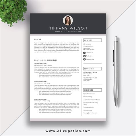 cool resume templates for mac creative resume template cover letter word modern simple resume instant