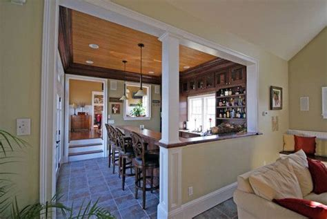 for dining kitchen half wall with column design pictures remodel decor and ideas page 10
