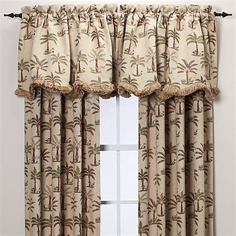 palm tree curtains drapes palm chenille window curtain panels bed bath beyond