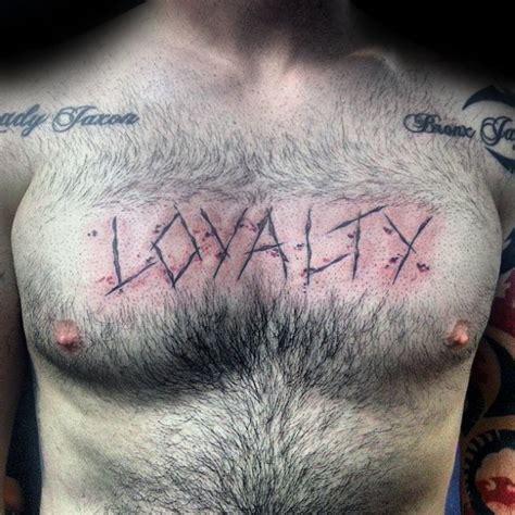 tattoo loyalty chest 50 loyalty tattoos for men faithful ink design ideas