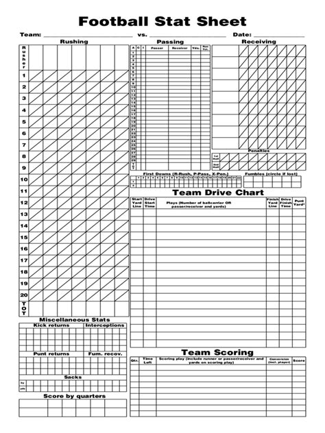 football stat sheet template football score sheet 3 free templates in pdf word