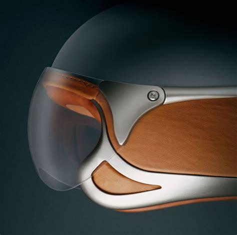 industrial design helm ferrari motorcycle helmet features genuine leather trim