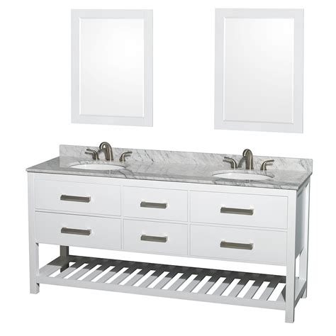 Wyndham Vanity by Natalie 72 Quot Bathroom Vanity By Wyndham Collection White Free Shipping Modern Bathroom