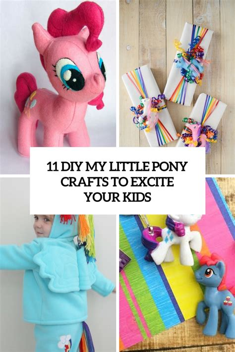crafts to do with pony 11 diy my pony crafts to excite your shelterness