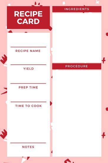customize  recipe card templates  canva