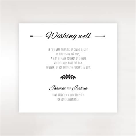 wedding invitations wishing well cards country lace pocket wishing well card