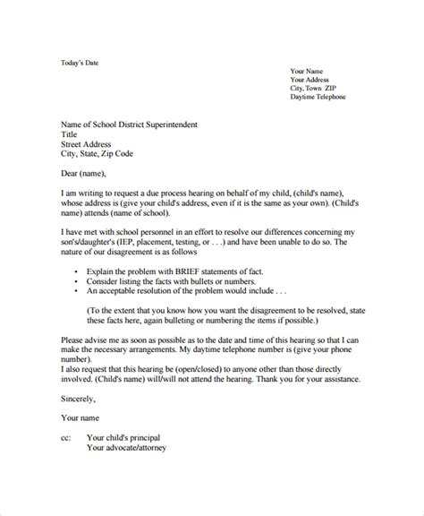 Official Letter Format To Hod Sle Disagreement Letter 6 Documents In Pdf Word