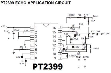Infath Pt2399 Echo Processor Ic pt2399 digital delay ic diy audio circuits