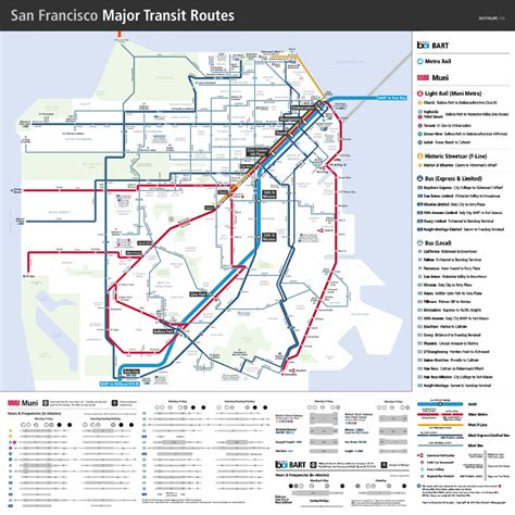 san francisco transportation map bay area transportation maps bart muni caltrain more