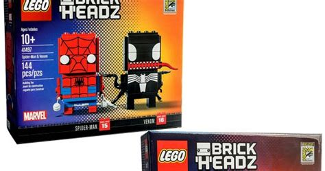 Lego Brickheadz Sdcc 41497 Spider Venom Original sdcc 2017 lego brickheadz