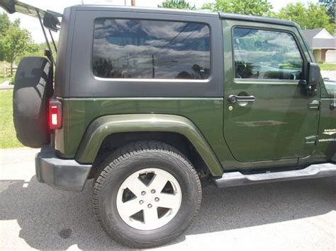 dark green jeep wrangler purchase used jeep wrangler sahara dark green great
