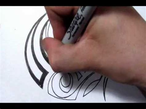 drawing a simple tribal maori design quick sketch youtube