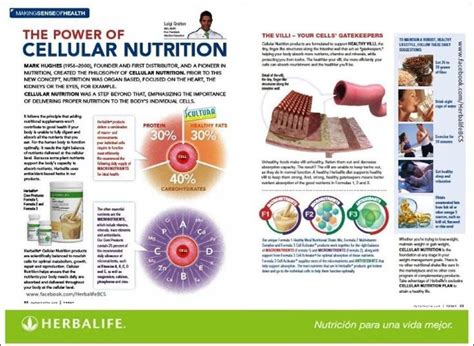 Teh Diet Herbalife cellular nutrition is our product if the cells are healthy than the system is healthy