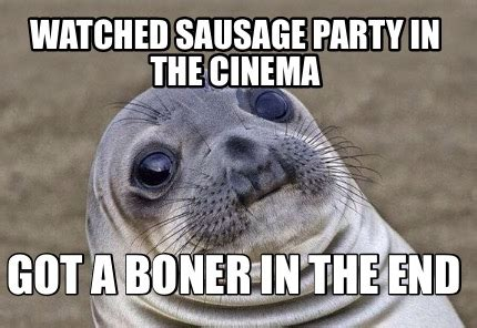 Sausage Party Meme - meme creator watched sausage party in the cinema got a