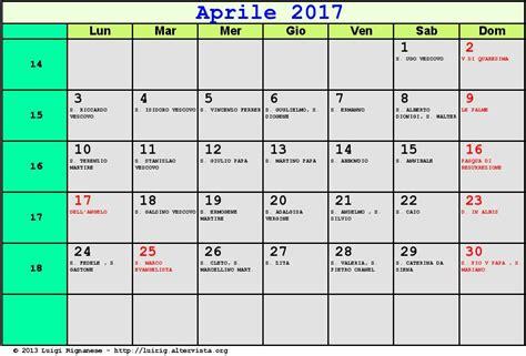 calendario aprile 2017 pdf aprile 2017 quasi met 224 mese alla prese con festivit 224