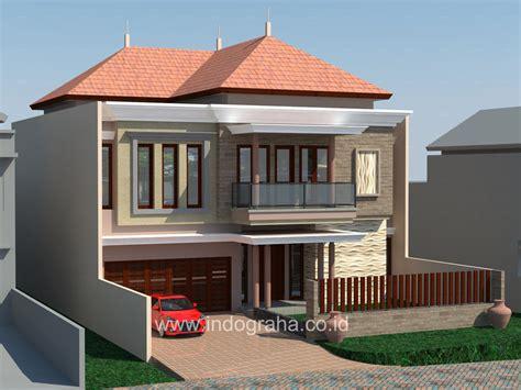 desain rumah di indonesia desain rumah klasik 2 lantai di pondok indah jakarta