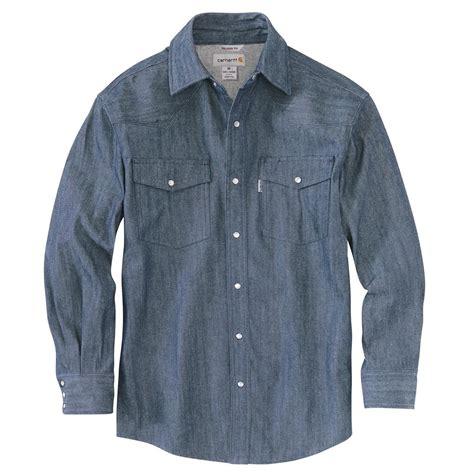 denim shirt carhartt s ironwood denim work shirt 623528 shirts