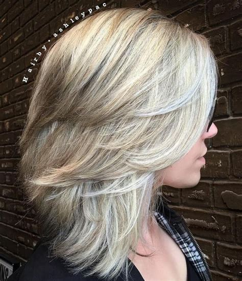 medium haircut feathered backwards 17 best ideas about medium layered hairstyles on pinterest