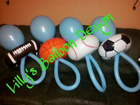 Sports Themed Baby Shower by Baby Shower Sports Theme Balloon Pacifiers Baby Shower