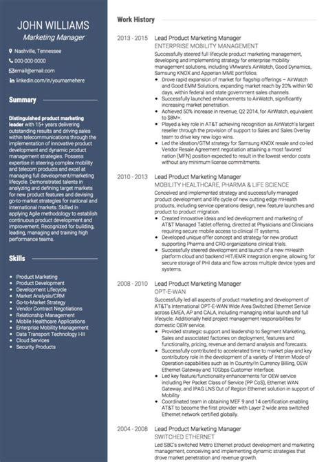 cv template for marketing job marketing cv exles and template