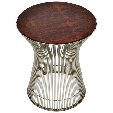 warren platner rosewood side table at 1stdibs