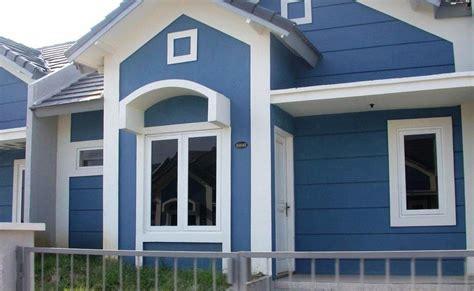 desain cat rumah warna abu abu sekitar rumah