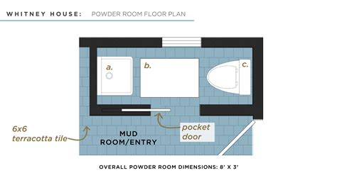 powder room layout whitney house the powder bath the made home