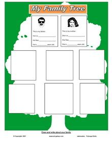 Esl Family Tree Template by Family Tree Template Family Tree Template Esl